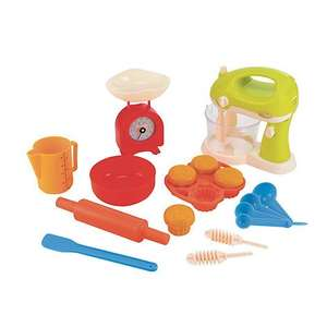 Complete Baking Set : Early Learning Centre £12 FREE C + C or 3.95 delivered. Was £ 30. Same price on Tesco direct if you collect points.