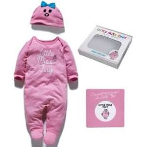 Little Miss Tiny Baby Gift Set Sleep-Suit and Matching Hat- 0-3 + 3-6 Months Half Price 5.99 @ Argos