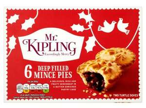 ** Mr Kipling Mince Pies 6 per pack now 87p @ Morrisons **