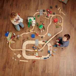 80 piece wooden train set with battery powered vehicle £14.99 in store @ lidl from 16th Nov