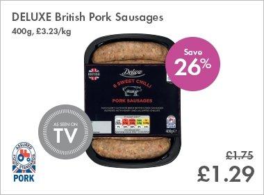 Lidl De Luxe Sausages £1.29
