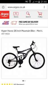 Mens 26'' Hyper Havoc Mountain Bike £99.99 @ Argos