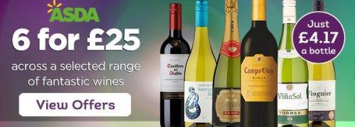 £25 for 6 bottles of wine at ASDA