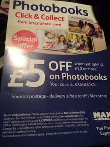 Extra £5 off Tesco photobooks website