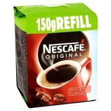 Nescafe Original Instant Coffee Refill 150G 3 for 2 £2.49 @ Tesco