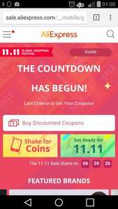 11.11.2015 Global shopping festival at aliexpress.com