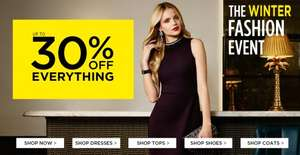 Up to 30% Off Everything at Dorothy Perkins