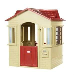 Cute LITTLE TIKES  Cape Cottage Kids Playhouse Tan With Brick Details £72 delivered @ Tesco Outlet Ebay