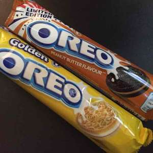 Peanut Butter and Golden Oreos Cookies/Biscuits 56p @ B&M