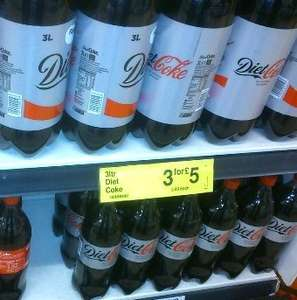 Diet Coke 3 x 3 litres for £5.00 @ FarmFoods