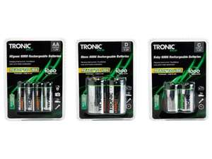 Tronic Ready To Use Ni-MH Rechargeable Batteries @ LIDL £2.99 (From 12th Nov)