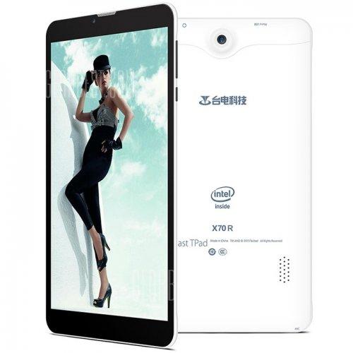 "7"" Teclast X70R 3G Phablet Dual Sim Phone Tablet Quad Core Intel SoFIA Atom X3-C3230 64bit 1GB RAM 8GB ROM Dual Cameras Bluetooth 4.0 GPS Android 5.1 (Promo Price £32.88) FREE P&P @ GearBest"