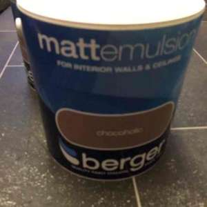 2.5 litre Berger coloured emulsion only £2.99 @ watt brothers