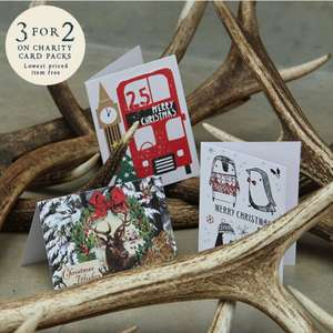 3 for 2 on Christmas Card Packs @ Paperchase