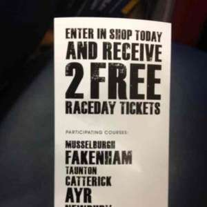 2 free race tickets when you place a £2.00 jumps coupon @ William Hill