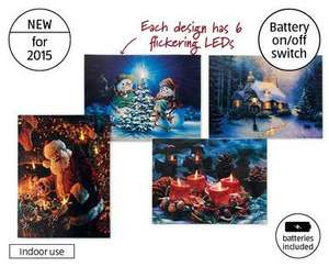 LED Christmas Canvas  Only £3.99 at Aldi