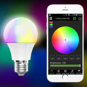 Super-cheap Bluetooth enabled smart bulb (E27) Screw. Control via Android phone. £6.57 @ Gearbest