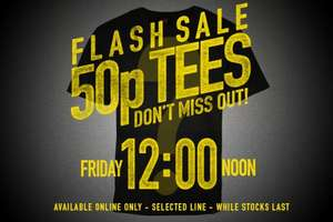 Saltrock 50p Flash T-shirt Sale! Friday 12 noon