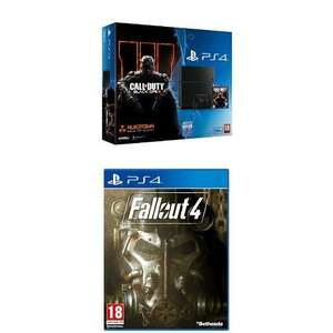 Sony PlayStation 4 500GB with Call of Duty : Black Ops 3 with Fallout 4 (PS4) £279.99 @ Amazon