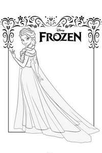 Free frozen colouring sheets @ Disney