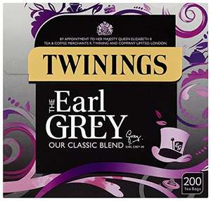 Twinings Earl Grey 200's (Pack of 3, Total 600 Tea bags) , £5.70 S&S @ Amazon