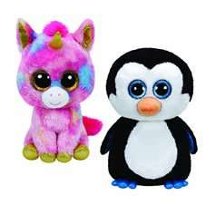 Large Beanie Boo - Penguin/Unicorn/Owl/Leopard - £15 at Wilkinsons.
