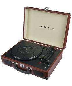 BUSH Classic Portable Turntable/Record Player - Brown - Argos - Reduced to £49.99