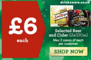 Now Live - 12 x 330ml beers/ciders for £6 inc Staropramen Bottles - San Miguel Bottles - Kopparberg Mixed Fruit Cider Cans - Kopparberg Strawberry & Lime Cider Cans @ Morrisons