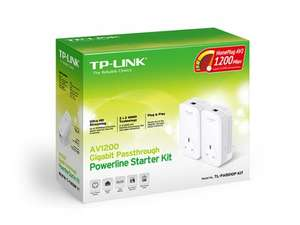 TP-LINK TL-PA8010PKIT AV1200 Gigabit Passthrough Powerline Adapter Starter Kit (1200 Mbps, Multiple HD Streams and No Configuration Required) - 2 Units Pack - £49.99 delivered at Amazon.