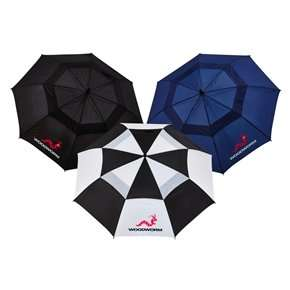 "Woodworm Double Canopy 60"" Golf Umbrella 3 pack £14.98 @ thesportshq"