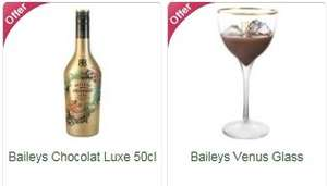 Baileys Chocolat Luxe 50cl + Baileys Venus Glass Bundle - £12 @ Ocado