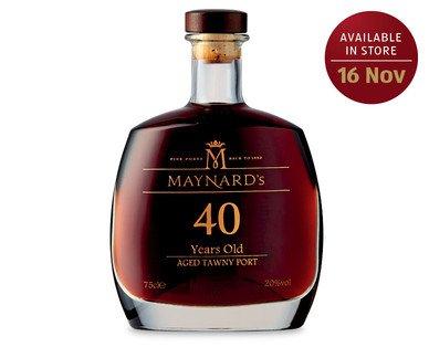 Maynard's 40 Year Old Tawny Port - £29.99 @ Aldi