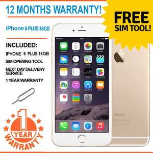 Apple iPhone 6 Plus 16GB Factory Unlocked - Champagne Gold for £359.99 @ ebay /  universalgadgets01