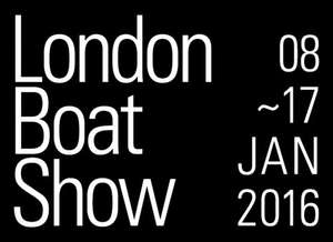 London Boat Show 2 tickets from only £22 with code