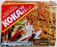 Koka Instant Noodles - Spicy Stir Fried Flavour - 10p @ B&M