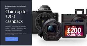 £200 Cashback on selected Sony RX-series and a7 cameras