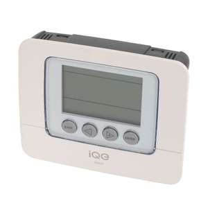 iQE 7 Day Programmable Room Thermostat with Li-Ion Battery Back-Up £20.10 @ screwfix
