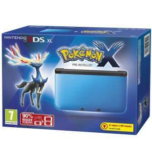 3DS XL Black & Blue with Pokemon X just £98.99 from Zavvi