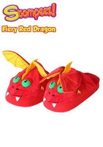 STOMPEEZ SLIPPERS - FIERY RED DRAGON £7.49 get another pair for £7.49 free delivery