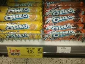 Oreo Peanut Butter /Golden Cookies/Biscuits £0.49  @ Home Bargains
