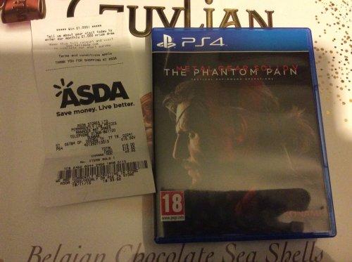 Metal gear solid V - The Phantom Pain PS4 £15 Asda Instore