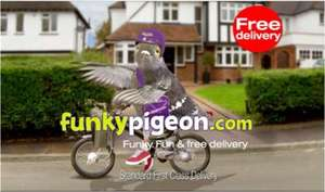 Funky Pigeon - 4 greetings cards starting at 89p + 63p P&P and free postage (when u buy 4)