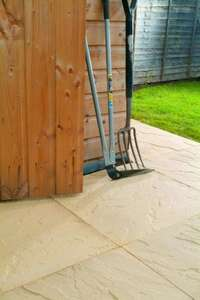 Buff Riven Paving Slabs (450 x 450 x 32mm) 64 for £64 (£1 a slab, with free delivery)  - new stocks now available