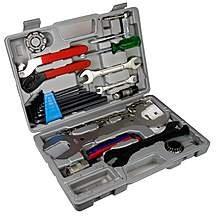 Halfords essential bike tool kit £10 or Bikehut tool kit £15