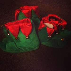 Home Bargains - £5.99  Instore - Christmas Elf Slippers / Shoes For Adults And Children