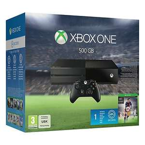 Xbox One Console 500GB FIFA 16 and Star Wars Battlefront £279.91 at John Lewis 2yr guarantee