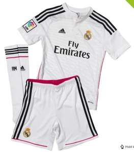 Various children's Real Madrid mini kits (up to age 13) £16.99 plus del of £4.49 @ Mandmdirect