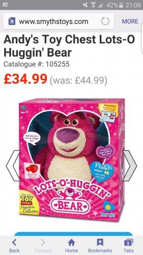 Toy Story lots-o Huggin Bear £34.99 @ Smyths Toys