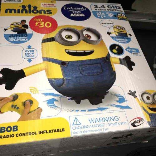 Remote control inflatable minion £10.00 @ Asda instore