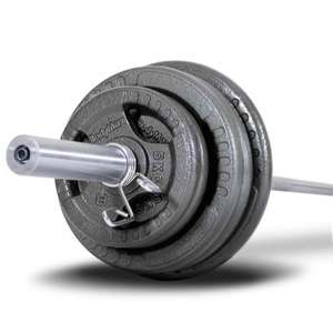100kg Olympic Weights & 6ft Bar - £125.00 + Free Del @ Powerhouse-Fitness - Flash Sale